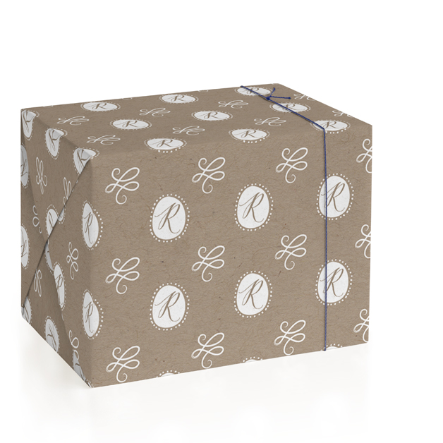 Monogram Oval Personalized Wrapping Paper
