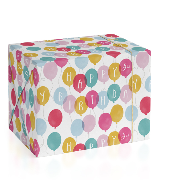 Birthday Balloons Wrapping Paper