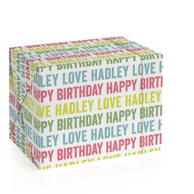 Colorful Birthday Wrapping Paper