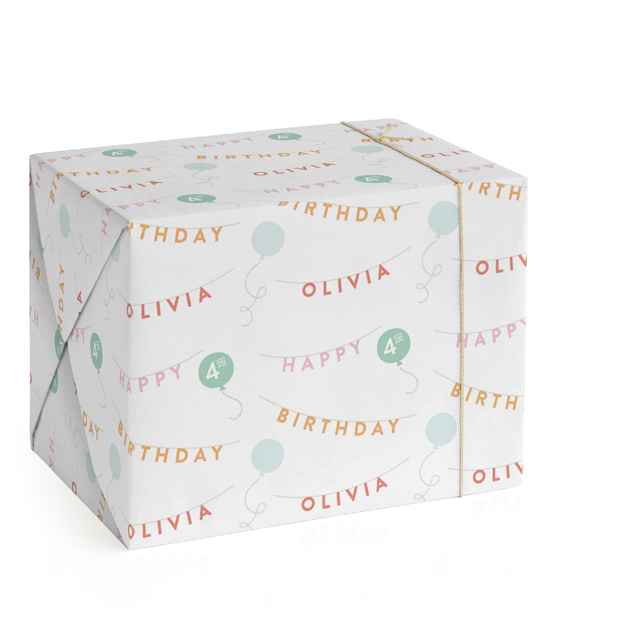 Birthday Bunting Wrapping Paper
