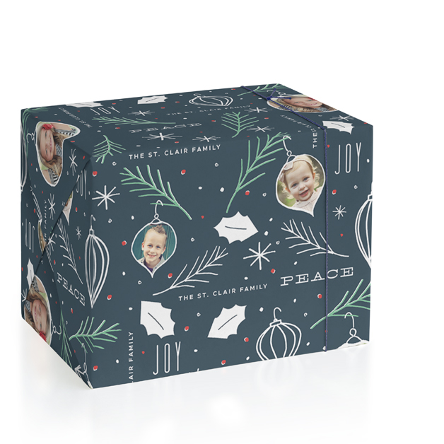 Ornamental Personalized Wrapping Paper