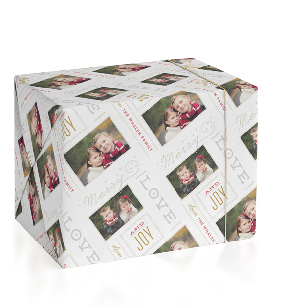 Silverlining Personalized Wrapping Paper