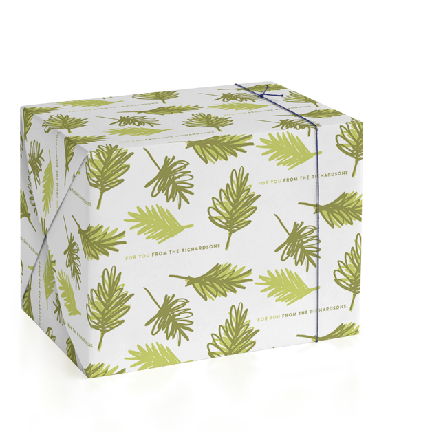 Evergreen Personalized Wrapping Paper