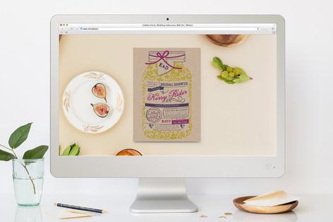 Rustic Mason Jar Celebration Bachelorette Party Online Invitations