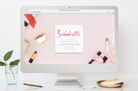 Lipstick Bachelorette Party Online Invitations