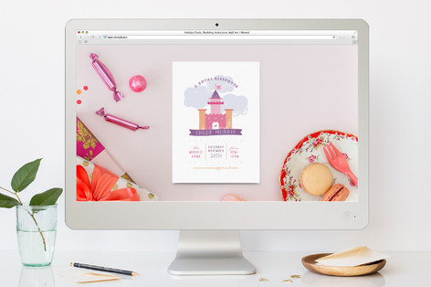 A Royal Sleepover Children's Birthday Party Online Invitations