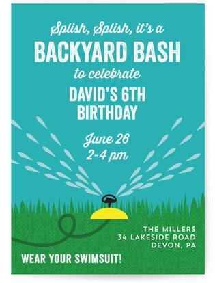 Backyard Bash Children's Birthday Party Online Invitations
