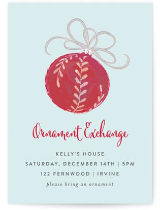 Ornament Soiree Christmas Online Invitations