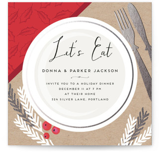 Xmas Dinner Christmas Online Invitations