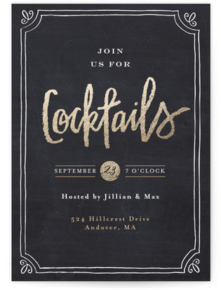 Just Cocktails - Cocktails Cocktail Party Online Invitations
