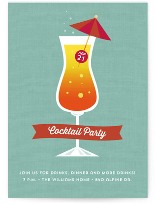 Cocktail Party Fun Cocktail Party Online Invitations