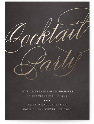 Gilded Cocktails Cocktail Party Online Invitations