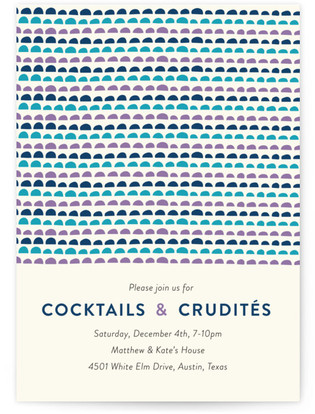 Patterns Cocktails & Crudites Cocktail Party Online Invitations