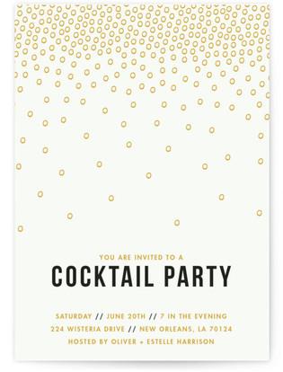 Caviar Confetti Cocktail Party Online Invitations