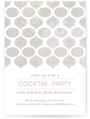 Modern Pattern Cocktail Party Online Invitations