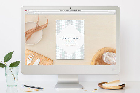 Diamond Cocktail Party Online Invitations