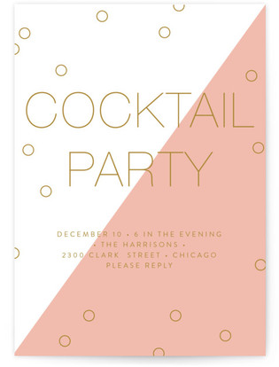 Modern Confetti Cocktail Party Online Invitations