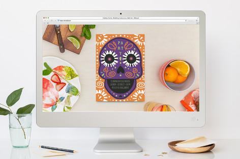Candy Skull Dia de los Muertos Online Invitations