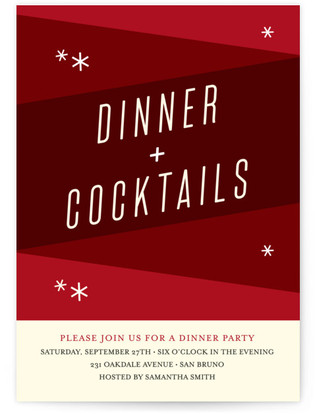 Mod Dinner Dinner Party Online Invitations