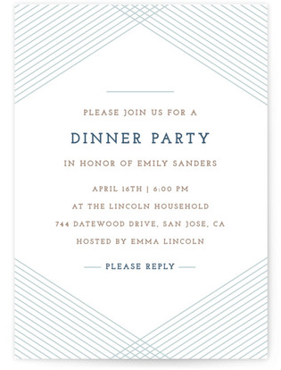 Diamond Dinner Party Online Invitations