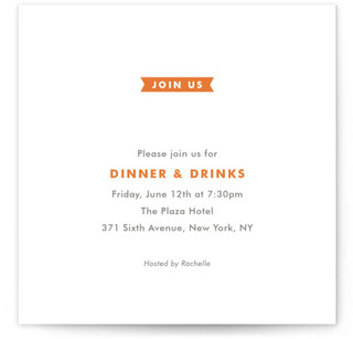Modern Ribbon Dinner Party Online Invitations