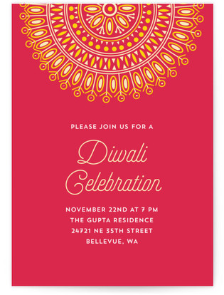 diwali colors Diwali Online Invitations