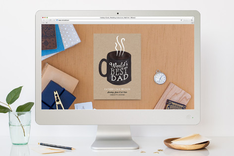 World's Best Dad Father's Day Online Invitations