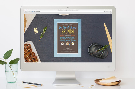 Sunnyside Brunch Father's Day Online Invitations
