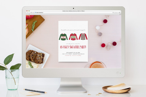 Break Out Your Finest Argyle Holiday Party Online Invitations