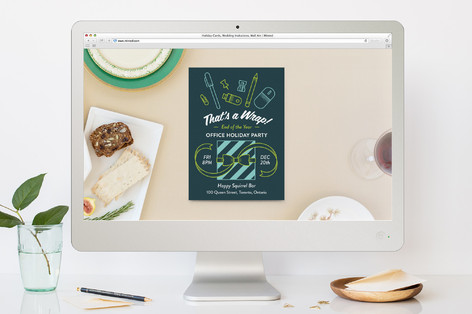 That's A Wrap! Holiday Party Online Invitations