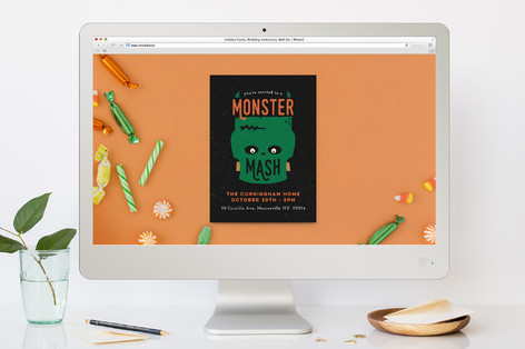 Monster Mash Party Halloween Online Invitations