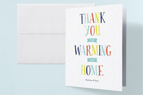 Housewarming Hootenanny Housewarming Party Thank You Cards