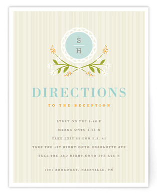 Sweet Stripe Directions Cards