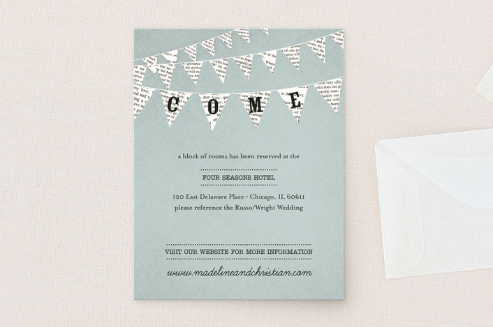 """Love Story"" - Vintage, Rustic Direction Cards in Robin's Egg by cadence paige design."