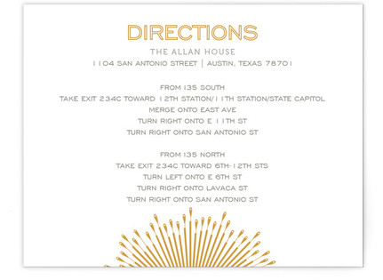 Glam Burst Directions Cards