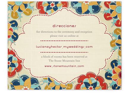 Las Flores Bonitas Directions Cards