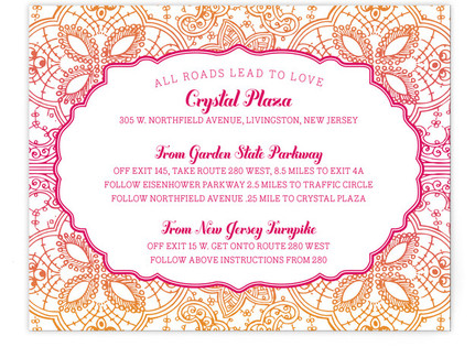 Mod Mehndi Directions Cards