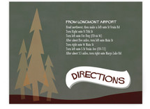 In the Woods Direction Cards