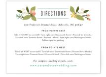 floral ampersand Direction Cards