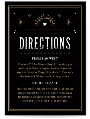 Golden Glitz Directions Cards