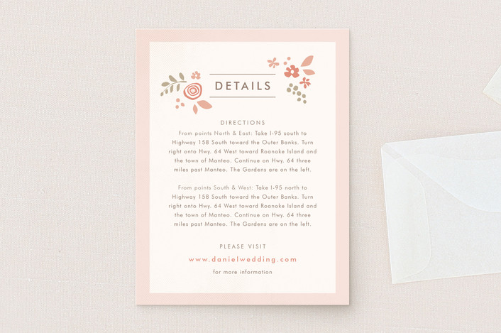 """Pink Blossoms"" - Floral & Botanical Direction Cards in Blush by Jennifer Wick."