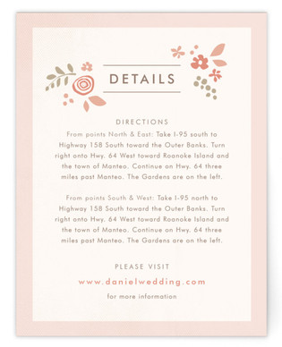 Pink Blossoms Directions Cards