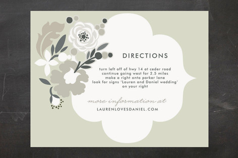 Simple Floral Direction Cards
