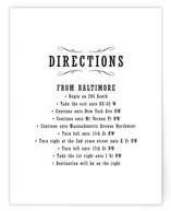 Antique Chalkboard Direction Cards