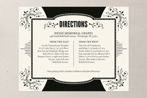 Cosmopolitan Roaring 20's Direction Cards