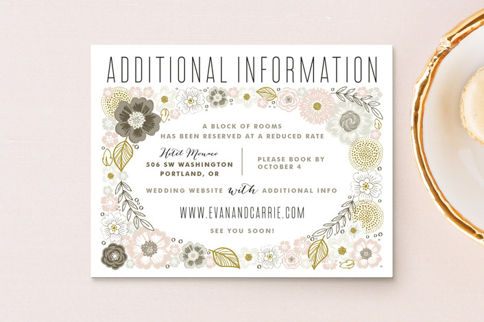 """Flower Box"" - Floral & Botanical, Rustic Direction Cards in Pink Petal by Alethea and Ruth."