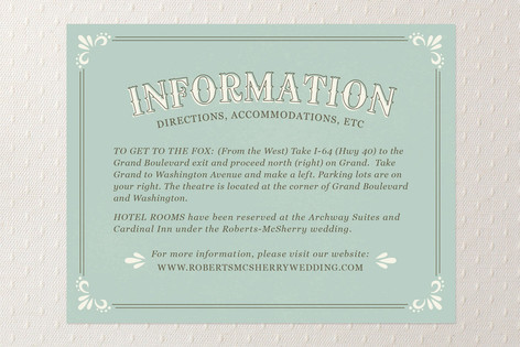 Marquee Direction Cards