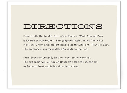 Meadow Directions Cards