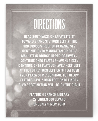 Bokeh Bride Directions Cards