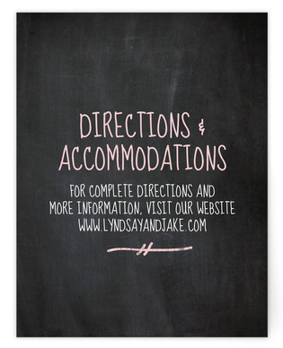 Dusty Chalkboard Directions Cards
